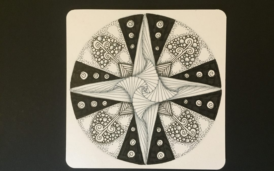 Mandala Making Challenge with the 4N1(c) stencil